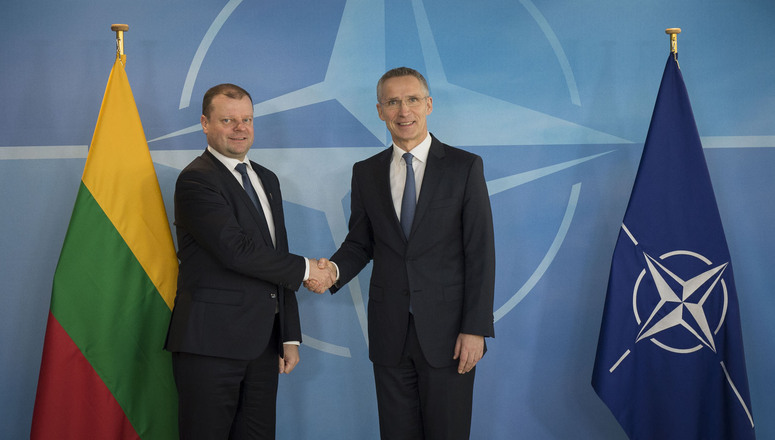 The Prime Minister of the Republic of Lithuania, Saulius Skvernelis visits NATO and meets with NATO Secretary General Jens Stoltenberg
