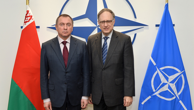 The Minister of Foreign Affairs of the Republic of Belarus visits NATO